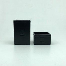 Imagem - Kit Porta Canetas e Porta Clips em Couro