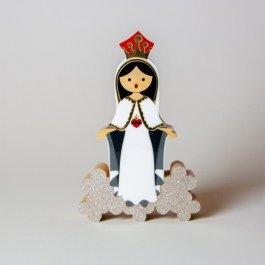 Imagem - Escultura Sagrado Coração de Maria Mini