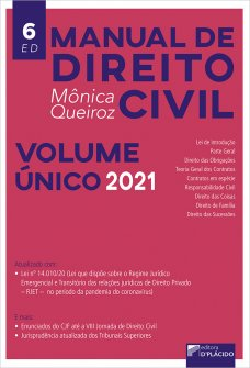 Imagem - Manual de Direito Civil 6ª edição 2021