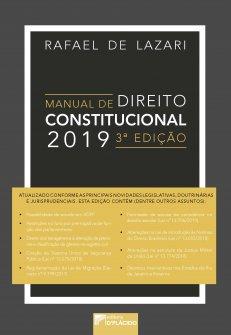 Imagem - Manual de direito constitucional  2019 - 3º Edição - 97888584258902