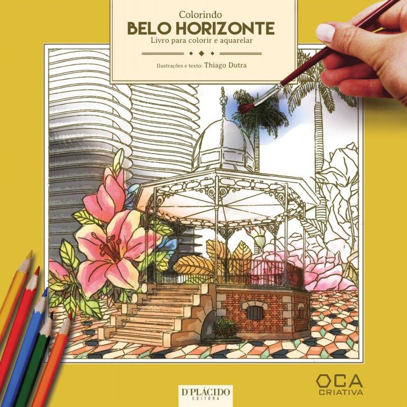 Colorindo Belo Horizonte – Livro para colorir e aquarelar