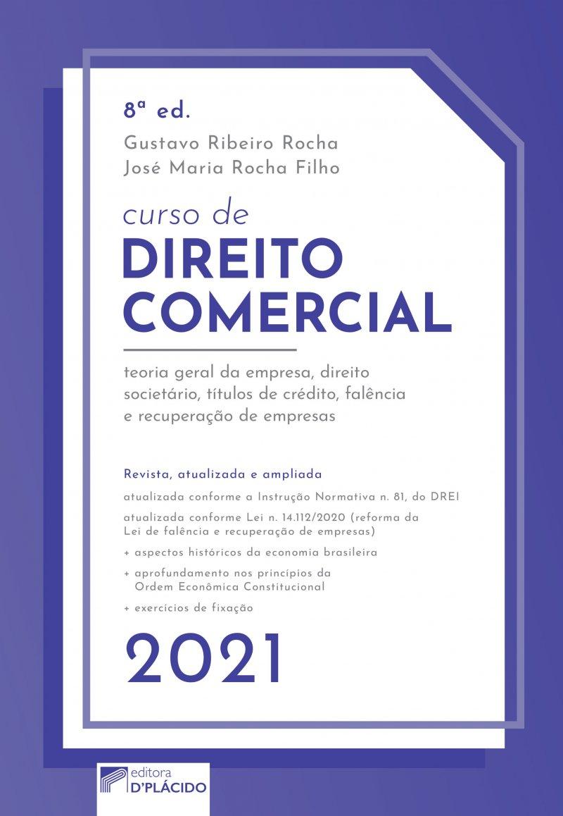 Curso de Direito Comercial 8ª edição 2021