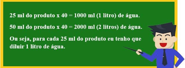 Como fazer diluição de produtos concentrado