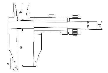 Paquímetro Universal (Orelhas para Medição Interna) - 300mm - Leit. 0,02mm - Digimess