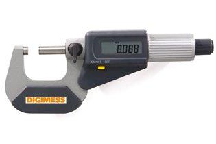 Jogo de Micrômetros Externos Digitais IP40 (6 peças) - 0-150mm - Leit. 0,001mm - Digimess