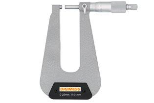 Micrômetro Externo (Arco Profundo 50mm - Pontas Planas) - 0-25mm - Leit. 0,01mm - Digimess