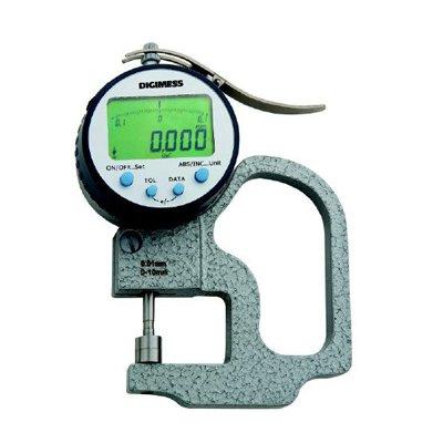 Medidor de Espessura Digital Milesimal (Arco 30mm) - 0-10mm - 0,005mm - Digimess