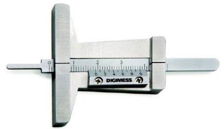 Paquímetro de Profundidade para Sulcos de Pneus - 30mm - Leit. 0,1mm - Digimess