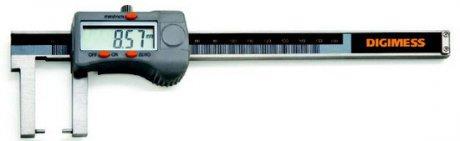 Paquímetro Digital Externo (Pontas Cilíndricas) - 200mm - Leit. 0,01mm (Bico: 80mm) - Digimess