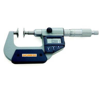 Micrômetro Digital (Dentes de Engrenagens) -  Leit. 0,001mm - 25-50mm - Digimess