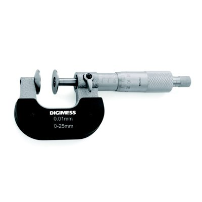 Micrômetro (Dentes de Engrenagens) - 75-100mm - Leit. 0,01mm - Digimess