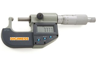 Micrômetro Externo Digital (Pontas 1 Lado Plana/ 1 Lado Esférica) - 0-25mm - Leit. 0,001mm - Digimess