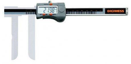 Paquímetro Digital (Bico Tipo Faca) - 18-200mm - Leit. 0,01mm - Digimess