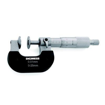Micrômetro (Dentes de Engrenagens)  Fuso Rotativo  25-50mm - Leit. 0,01mm - Digimess