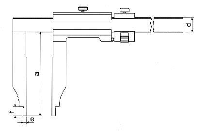 Paquímetro Universal (Bicos Longos 200mm) - 800mm - Leit. 0,02mm - Digimess