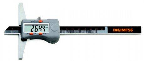 Paquímetro Digital de Profundidade - 200mm - Leit. 0,01mm (Base de Apoio 150mm) - Digimess