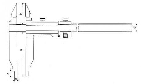 Paquímetro Universal (Orelhas de Medição Externa) - 1000mm - Leit. 0,02mm - Digimess