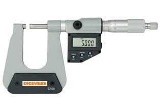 Micrômetro Externo Digital (Arco Profundo 150mm - Pontas Planas) - 0-25mm - Leit. 0,001mm - Digimess