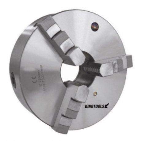 Placa para Torno com 3 Castanhas Universais 8 polegadas (200mm) em ferro fundido - Kingtools