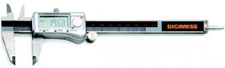 Paquímetro Digital com Caixa Metálica - 200mm - Leit. 0,01mm - Digimess