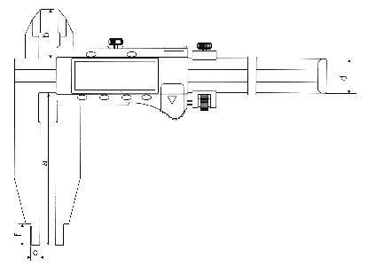 Paquímetro Digital (Orelhas de Medição Externa) - 600mm - Leit. 0,01mm - Digimess