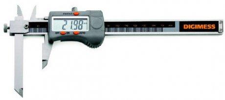 Paquímetro Digital (Bico Ajustável) - 200mm - Leit. 0,01mm - Digimess