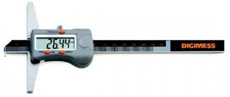 Paquímetro Digital de Profundidade com Gancho - 600mm - Leit. 0,01mm - Digimess