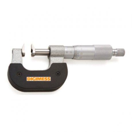 Micrômetro Externo para Ressaltos e Dentes de Engrenagens - 75-100mm - Leit. 0,01mm - Digimess