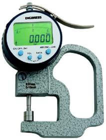 Medidor de Espessura Digital Milesimal (Arco 30mm) - 0-10mm - 0,005mm - 130.405 - Digimess