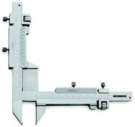 Imagem - Paquímetro (Dentes de Engrenagens) - 1-25mm - Leit. 0,02mm - Digimess cód: DIG-100.283
