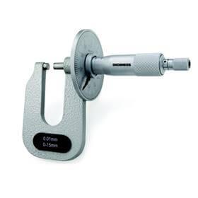 Imagem - Micrômetro Externo com Disco para Medição de Chapas (Pontas Planas) - 0-25mm - Leit. 0,01mm - Digimess cód: DIG-113.064A