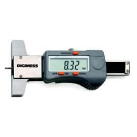 Paquímetro Digital de Profundidade para Sulcos de Pneus - 30mm - Leit. 0,01mm - Digimess