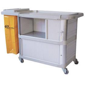 Carro Extra I Bolsa Fechamento Lateral com Porta - CA01AM - Bralimpia