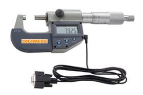 Imagem - Micrômetro Externo Digital IP54 - 0-25mm com Saída de Dados RS232 - Digimess cód: DIG-110.260