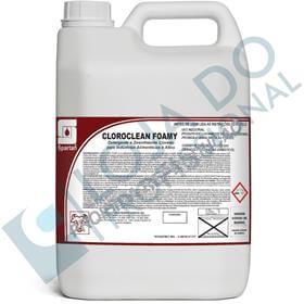 Cloroclean Foamy C/ Alta Espumação - 5 Litros - Spartan