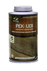 Imagem - Pek UDI - Resina líquida para madeiras ou cimentícios - 1 Litro - Mogno - Pisoclean cód: PEK058