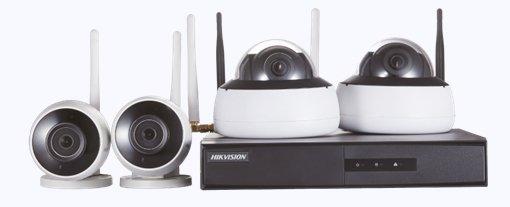 Kit de Monitoramento Hikvision 2 Bullet 2 Dome NVR 4BD WiFi NK4W2-1T (TB)