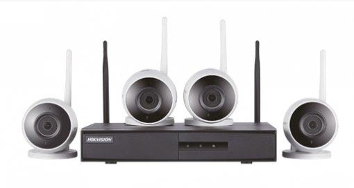 Kit de Monitoramento Hikvision 4 Bullet NVR 4B WiFi NK4W0-1T (TB)