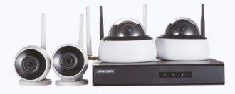 Imagem - Kit de Monitoramento Hikvision 2 Bullet 2 Dome NVR 4BD WiFi NK4W2-1T (TB) cód: 330