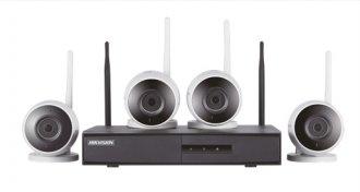Imagem - Kit de Monitoramento Hikvision 4 Bullet NVR 4B WiFi NK4W0-1T (TB) cód: 332