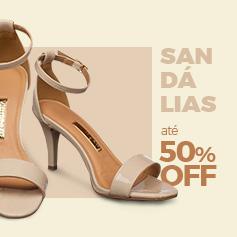 Sandálias Femininas 50% OFF