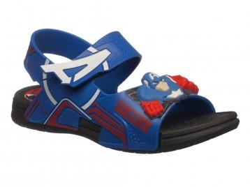 Sandalia Grendene Avengers Preto Azul Capitão América AVENGERS 21498