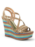 Sandalia Crysalis Anabela Light Tan 40583494