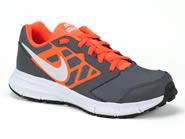 Tenis Nike Running Cinza/Cinza-Laranja DOWSHIFTER 6 684979
