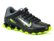 Tenis Nike Running Preto Verde REAX 8 TR 616543