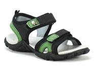 Sandalia Pe Com Pe  Preto Verde 803027