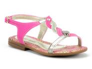 Sandalia Pe Com Pe  Pink Dourado 32067