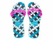 Chinelo Havaianas Flat Gum Fashion Dedo  Azul/Azul Capri FLAT GUM 4.132.596