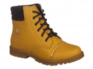 Bota Kidy Coturno Amarelo Crepe 028.0021