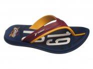 Chinelo Grendene Dedo Rider Line Azul Vermelho Amarelo NBA 11168